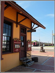 standing at the railway station... (pvh photo) Tags: station railroad tickets train texas