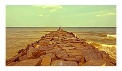 V_71 (v fotographie.) Tags: pondy diaries rock beach seaside seashore men frame tip pondicherry india tamilnadu