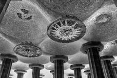 "Sala delle 100 colonne ""Park Gell Barcellona"" (MaOrI1563) Tags: saladelle100colonne parkgell barcellona barcelona catalogna catalunya eusebigell antonigaud spagna espania spain modernismo bn bw patrimoniodellumanit unesco guell parkguell"