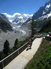 Mer de Glace (AmyEAnderson) Tags: merdeglace glacier france europe alps mountains snowcapped lookout scenic tourists montblanc rhonealpes