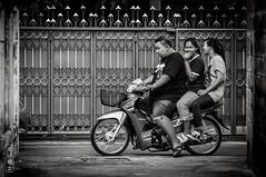 One Guy And Two Ladies #0173-2 (svenpetersen1965) Tags: bangkokstreet alley fence motorbike motorcycle street transport ขนส่ง รถมอเตอร์ไซค์ bangkok krungthepmahanakhon thailand th
