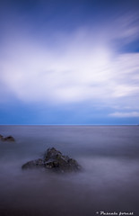 """Aqua"" (pascaleforest) Tags: sky cloud longuepose longueposure gaspsie aqua water landscape passion capdesrosiers"
