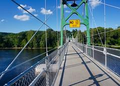 Footbridge over the Delaware River (The Wide Wide World) Tags: buckscounty pennsylvania pa newhope footbridge bridge lumberville