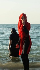 It seem that oppression is only when brown men tell you how to dress . When white men do it , it's called liberation #Burkini #France (yashakram1) Tags: burkini france