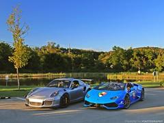 Take Your Pick (FourOneTwo Photography) Tags: porschegt3rs gt3rs lamborghinihuracnspyder auto car exotic sportscar supercar superstorm doctam3 supercarspersonified fouronetwophotography