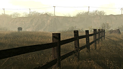 The Long Ride Home (It Feels Like Rain) Tags: shannoncardalines secondlife sl nusquam hff happyfencefriday fenceline fence thelongridehome