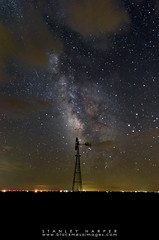 Windmill, Clouds and Milky Way (Black Mesa Images) Tags: astrophotography black colorado harper images kansas mesa milky night oklahoma plains planets stanley stars texas vanguard way
