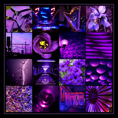 play me the Sunday Sliders Blues - HSS! (sorry one day early) (lunaryuna) Tags: collage photomosaic composition tableau colours purple blue violet bordeaux purplelicious sliderssunday squareformat lunaryuna colourcomposition