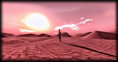 alone to infinity (DECE') Tags: secondlife second life thecernius serpente deserto desert alone infinity dasolo infinito soloe sun sky cielo ombra ombre