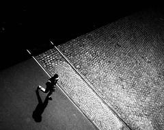 off the track (Dan-Schneider) Tags: streetphotography schwarzweiss shadow blackandwhite bw light lines track silhouette olympus omdem10 monochrome urban human photography