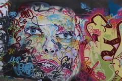 A Young Woman's Portrait (just.Luc) Tags: graffiti urbanart streetart portrait portret retrato ritratto woman mucher vrouw femme young jeune jong evan tag vilvoorde vilvorde belgien belgium belgi belgique