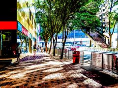 shadow (Kai-Ming :-))) Tags: light shadow lateafternoon morning kaiming kmwhk tsuenwan hongkong outdoor sony creative art digitalart contrast tree road e6533 collage tsuenwanpolicestation taxi minibus