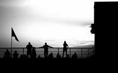 Standing At the Top of the Bleachers (Photographs By Wade) Tags: oologah oklahoma football footballgame stadium people bleachers silhouette evening