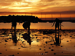 Waterplay.... Explored. (cobby31 .) Tags: september2016 sandbanks sunset lowtide lowwater paddleboards brownseaisland