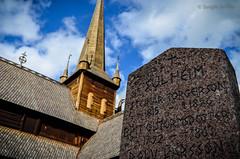 Lpida en Lom (Norway) (serarca) Tags: lapida tumba iglesia church lom noruega norway medieval siglo xii stavkirke tomb stone