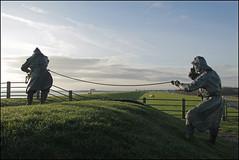 Dike inspectors (Elly Snel) Tags: ameland eiland island nl dike dijk inspectors wachters sculpture standbeeld dedijkwachters ballumerbocht