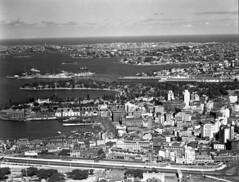 City North - Circular Quay - 26th Nov 1937 (Royal Australian Historical Society) Tags: rahs royalaustralianhistoricalsociety adastraaerialsurveycollection adastra aerialphotography landscape sydneycity circularquay 1937