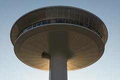 Saucer Fungus (Fotogezwitscher) Tags: architecture building modern minimal round elipse tower sunset dusk glow