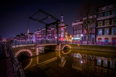 Amsterdam (karinavera) Tags: travel nikond5300 reflections night urban amsterdam street colors canals water cityscape longexposure bridge city