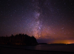 Milky Way over Carrying Cove (BrianWalsh12) Tags: beach landscape milkyway sea landscapephotography water ocean starscape stars carryingcove naturephotography nature newbrunswick