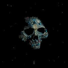 Holy Starman Skull (7115) Tags: liisroden graphics grfx art fanart skull space ritual tribal mysterious cult bowie davidbowie