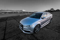 Standing Out (MBDGE) Tags: audi a3 saloon car orkney kirkwall clean shine reflection canon70d lightroom mono contrast standing out scotland alba