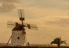 By the old mill (velton) Tags: old mill windmill vintage spain corn fuerteventura el molino restoration canaries roques cotillo cornmill