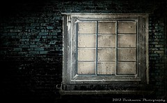 THE OLD WALL AND THE WINDOW AT THE INTERSECTION OF DECAY AND URBAN SPRAWL (Darkmoon Photography) Tags: urban texture abandoned oklahoma window decay gimp weathered okc deserted crumbling darkmoon joessistah