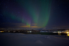 The Amazing Power of a Present Time - Aurora Borealis (http://mathiaskellermannphotography.com) Tags: city longexposure winter light sea white inspiration ice water norway night canon dark stars relax eos star freedom solar nice exposure place wind mark hiver iii relaxing tranquility arctic aurora harmony meditating 5d fjord greenlight serene soire pause northern soir contemplative idyllic quai nocturne tranquil pleasant auroraborealis toiles borealis peacefulness aurore peacefull toile troms harmonie norvge borale northernlight auroreborale enlightening mathiaskellermann constellationsblue