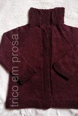 Casaco Flora (Valeria Ferreira Garcia) Tags: flower leaf sweater flora knitting flor handknit folha seamless tric suter semcostura cardig