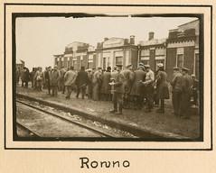 Rowno (SMU Central University Libraries) Tags: people men buildings women crowd ukraine worldwari worldwarone greatwar railways railroads officers rivne militarypersonnel rowno