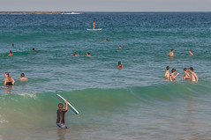 140413_0059 (amblerpix) Tags: blue beach clouds swimming fun surf day sunny australia bluesky newsouthwales swimmers tasmansea crowds sunbathing coogee lifeguards surfrescue autumnday