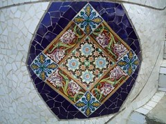 Park Gell (Gken Parlatan) Tags: barcelona park motif spain mosaic gaudi antoni mosaque mosaik mozaik antonigaudi barselona ispanya desen mosaicpatterns mozaikalmalar mozaikdesenler brektenna krkfayansmozaii pottern