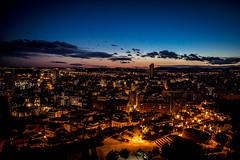 Barrio Santa Cruz By Night (Romain Pampelonne) Tags: light sunset sky santacruz luz night atardecer dawn noche alicante ciel cielo lumiere nuit coucherdesoleil castillosantabarbara canon60d