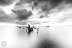 Boat_Monochrome (krishmahaputra) Tags: blackandwhite bali seascape beach canon landscape photography hitech waterscape
