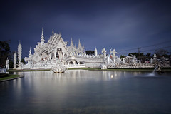 Wat Rong Khun (baddoguy) Tags: longexposure trip travel sky building art architecture thailand temple tour shot cathedral top buddhist famous culture buddhism landmark icon images getty destination wat iconic highlight cultural gettyimages chiangrai rongkhun gettyimagesstock