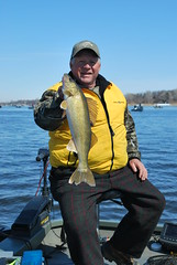 Ron Barefield with a nice walleye (Dan Small Outdoors) Tags: wisconsin madison walleye madisonwisconsin walleyefishing fishingreport ronbarefield dansmall outdoorsradio