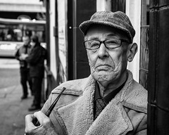 Dapper Old Gent... (alfie2902) Tags: street nottingham uk people urban bw monochrome mono blackwhite pentax availablelight candid streetphotography streetportrait k5 blackwhitestreetphotography smcpentaxfa31mmf18limited alfie2902 alfiewright