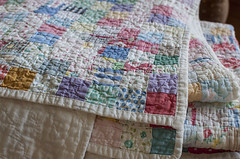 well worn corner (the little red hen -) Tags: soft quilt antique worn generations patchwork loved favoritethings passeddown