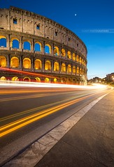 Rome Coliseum (Beboy_photographies) Tags: light italy rome night italia angle lumire wide colosseum trail coliseum manual nuit dri italie blending colise arne