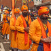 The Panj Piare or Five Beloved Ones in the 2013 Vaisakhi festival parade in Southampton