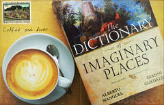 cofee and books (aahzmandeus) Tags: salzburg coffee book cafe imagination imaginary photocard