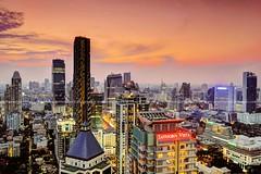 Sathorn Vista / Bangkok (I Prahin | www.southeastasia-images.com) Tags: city sunset rooftop skyscraper thailand cityscape view dusk bangkok hdr condominium themet sathornroad sathornvista