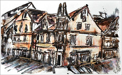 Celle (rafaelmucha) Tags: city moleskine architecture painting notebook sketch sketchbook bamboo stadt painter architektur draw altstadt celle corel inl tusche bambusfeder