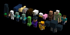 Minecraft Mobs (TheNerdyOne_) Tags: chicken skeleton pig cow wolf iron sheep lego witch zombie steve wither mob squid blaze creeper golem ocelot villager ldd enderman minecraft
