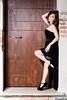 Martina Polopoli n.8 (Riccardo Mollo) Tags: door black muro girl wall model dress porta nero ragazza collana modella vestito necklance