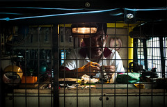 Watchmaker (Tony Borda) Tags: light streets lowlight philippines manila clocks watchmaker