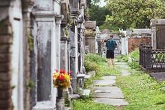 Not a ghost. (Explored) (Linh H. Nguyen) Tags: travel nature cemetery weird interestingness louisiana lafayette neworleans creepy violinist explored gravetones nikkor8518 nex7