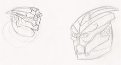 Turians (N-11 Ordo) Tags: head drawing mass weekly effect ordo n11 turian garrus