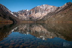 Convict Lake (Bob Bowman Photography) Tags: trees lake snow mountains color reflection water landscape nikon rocks scenic tranquility sierra ripples peaks highsierra d300 easternsierra convictlake metamorphic rmbimages robertmbowmanphotography